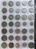 Колекція срібних монет 35 штук, фото №5