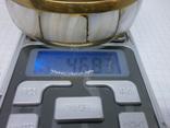 Винтажный латунный браслет с натуральными  перламутровыми вставками, фото №10
