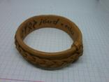 Кожаный браслет с надписями по внутренней стороне. Новый, фото №5