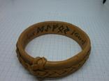 Кожаный браслет с надписями по внутренней стороне. Новый, фото №6