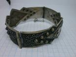 Восточный чеканный браслет с арабскими символами. Винтаж, фото №9