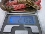 Браслет из двух переплетенных полых змеек. гибкий, фото №6