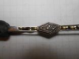 Зажим для галстука,для волос Серебро 875 со звездой Вес - 5,43 грамм, фото №3