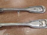 """Дві виделки з ініціаліми HN Christofle Франція 1844-1862 """"91"""", вага двух 129 грм., фото №3"""