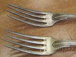 """Дві виделки з ініціаліми HN Christofle Франція 1844-1862 """"91"""", вага двух 129 грм., фото №4"""