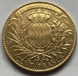 100 франков 1904 год Монако золото 32,22 грамма 900', фото №5