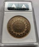 100 франков 1908 год Франция золото 32,23 грамма 900', фото №3