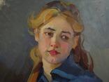 "С,А,Григорьев ""Марина"" 1976 г.картон.масло 49х33.5 см., фото №5"