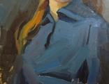 "С,А,Григорьев ""Марина"" 1976 г.картон.масло 49х33.5 см., фото №6"