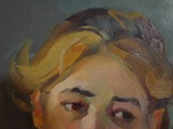 "С,А,Григорьев ""Марина"" 1976 г.картон.масло 49х33.5 см., фото №7"
