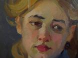 "С,А,Григорьев ""Марина"" 1976 г.картон.масло 49х33.5 см., фото №10"
