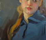 "С,А,Григорьев ""Марина"" 1976 г.картон.масло 49х33.5 см., фото №11"
