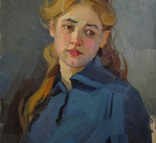 "С,А,Григорьев ""Марина"" 1976 г.картон.масло 49х33.5 см., фото №13"
