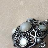 Серебряное колье с баламутом, фото №5