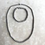 Комплект бусы и браслет из серебра ,Италия, фото №2