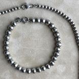 Комплект бусы и браслет из серебра ,Италия, фото №6