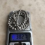 Комплект бусы и браслет из серебра ,Италия, фото №7