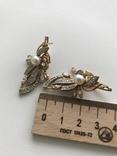 Серьги золотые. 585 Бриллианты с жемчугом. 11гр, фото №2