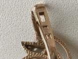 Серьги золотые. 585 Бриллианты с жемчугом. 11гр, фото №4