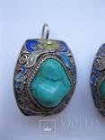 Серебряные серьги, фото №3