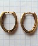 Золотые серьги 585 проба, СССР, фото №3