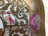 Блюдо.Мейсен.Ручная роспись с двумя китайцами, фото №5