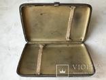 Портсигар серебро эмаль 84 проба жар птица, фото №8