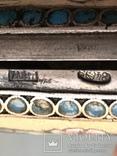 Портсигар серебро эмаль 84 проба жар птица, фото №9