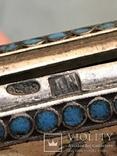 Портсигар серебро эмаль 84 проба жар птица, фото №12