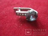 Серьга, серебро 1.7 грамм, 925 проба, фото №2