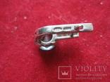 Серьга, серебро 1.7 грамм, 925 проба, фото №5