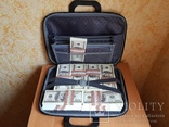 Сумка с деньгами 100$ Сувенирные деньги, Сувенірні гроші 100 $, фото №2