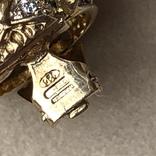 Серебряные клипсы, позолота, Италия, фото №10