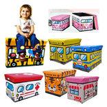 Пуфик-автобус для хранения игрушек и других мелочей, фото №3