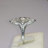 Золотое кольцо периода art deco с бриллиантами, фото №4
