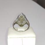 Золотое кольцо периода art deco с бриллиантами, фото №5