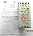 MDR-40-24 блок питания 24В,1,7А,40 Вт, фото №2