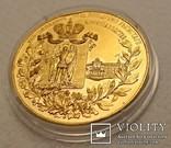 """Золотая медаль 1905 года. На медали есть надписи  """"І. Маршак"""", """"Ф.А.Терещенко"""", """"Киев""""..., фото №6"""