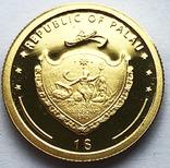 1 доллар Палау. Божья Матерь. (1/25 oz), фото №3