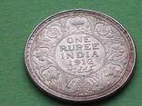 Британская Индия 1912 Рупия, Георг V., фото №5