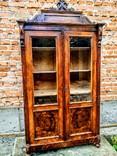Компактна книжкова шафа.вітрина, фото №2