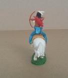 Индеец на лошади с луком Elastolin своппеты Германия, фото №8