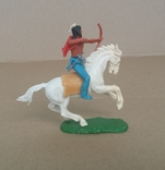 Индеец на лошади с луком Elastolin своппеты Германия, фото №9