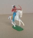 Индеец на лошади с луком Elastolin своппеты Германия, фото №10