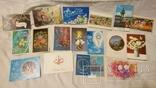 Двойные чистые открытки с Новым годом,с 8 марта,с 1 мая и др.Всего 327 шт, фото №3