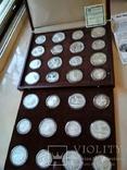 Олимпиада 1980 серебро СССР набор монет в футляре сертификат, фото №2