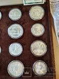 Олимпиада 1980 серебро СССР набор монет в футляре сертификат, фото №7