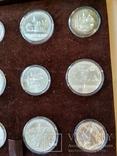 Олимпиада 1980 серебро СССР набор монет в футляре сертификат, фото №9