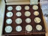 Олимпиада 1980 серебро СССР набор монет в футляре сертификат, фото №10