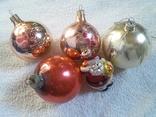 Елочные игрушки: Шары и Дед мороз. 5 шт. 1 - им лотом, фото №3